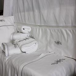 linge de lit satin de coton brod - Parure De Lit Mariage Tunisie